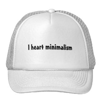I heart minimalism trucker hat