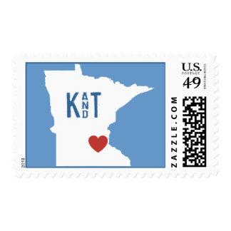 I Heart Minnesota - Customizable City Stamp