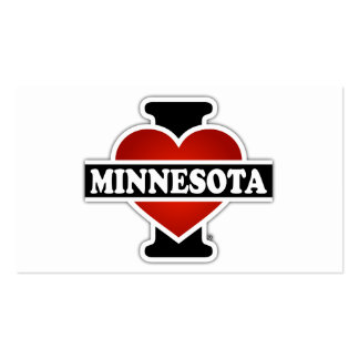 I Heart Minnesota Double-Sided Standard Business Cards (Pack Of 100)