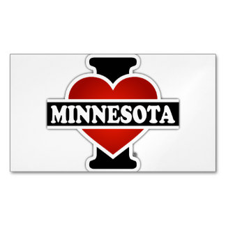 I Heart Minnesota Magnetic Business Cards (Pack Of 25)