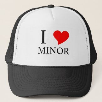 I Heart MINOR Trucker Hat
