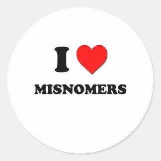 I Heart Misnomers Sticker