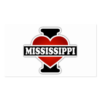 I Heart Mississippi Double-Sided Standard Business Cards (Pack Of 100)