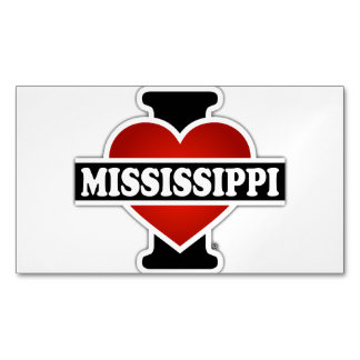 I Heart Mississippi Magnetic Business Cards (Pack Of 25)