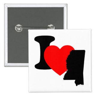 I Heart Mississippi Pinback Button