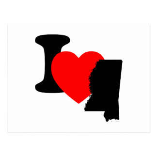 I Heart Mississippi Postcard