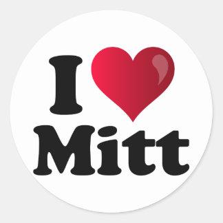 I Heart Mitt Classic Round Sticker