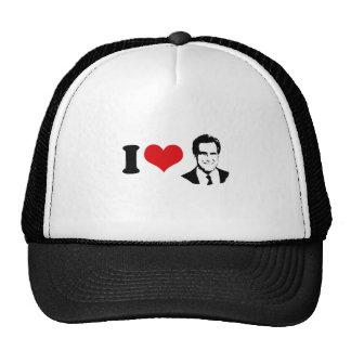 I HEART MITT ROMNEY 2012 TRUCKER HAT