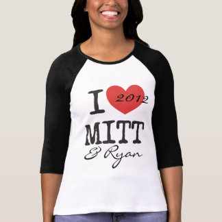 I heart Mitt Romney and Paul Ryan 2012 T-Shirt
