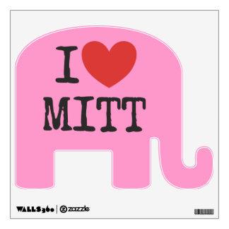 I heart Mitt Romney Wall Decal