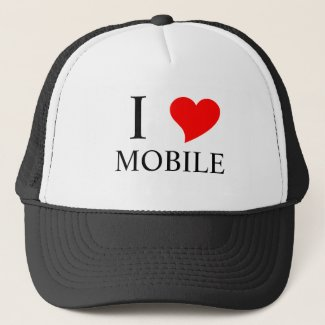 I Heart MOBILE Trucker Hat