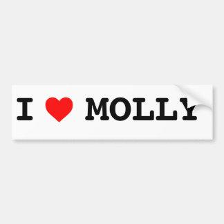I heart Molly Bumper sticker Car Bumper Sticker