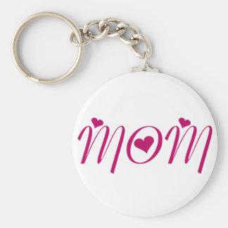I Heart MOM! by Celeste Sheffey Keychain