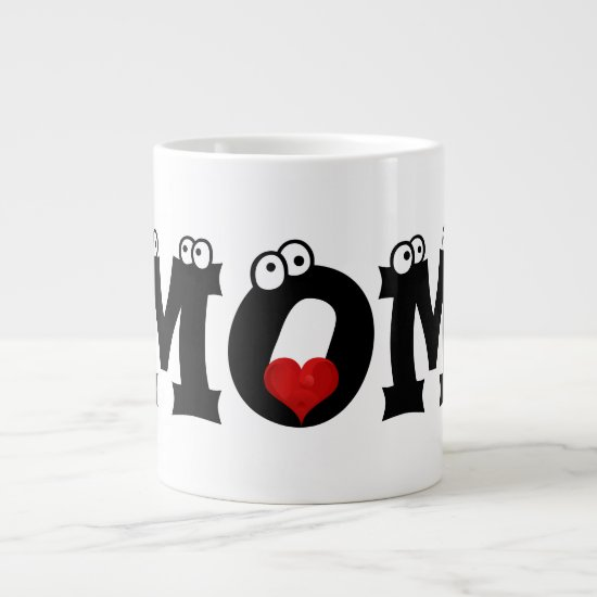 I Heart Mom Happy Mother's Day Jumbo Coffee Mug