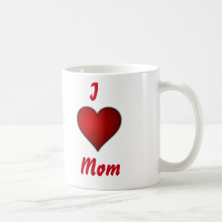 I heart Mom Happy Mother's Day Red on White Coffee Mug