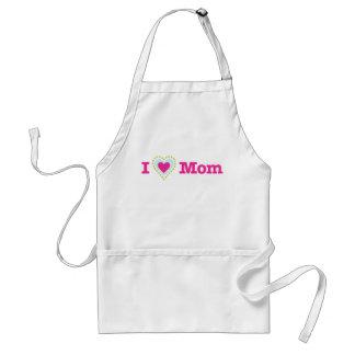 I heart Mom LOVE MOM Adult Apron