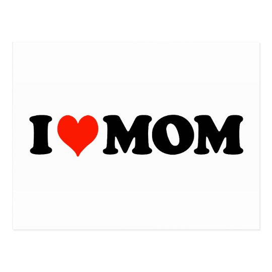 I Heart Mom Postcard