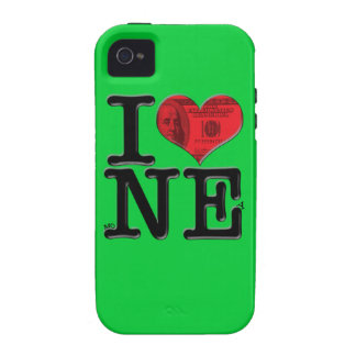 I (heart) moNEy Vibe iPhone 4 Covers