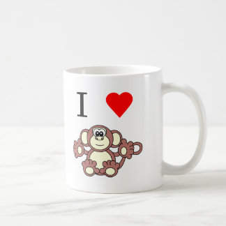 i heart monkey coffee mug