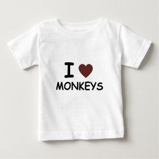 I HEART MONKEYS BABY T-Shirt