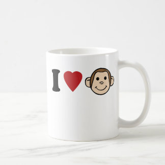 I Heart Monkeys Coffee Mug