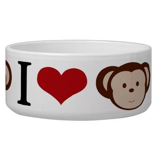 I Heart Monkeys I Love Monkey Valentines Gift Bowl