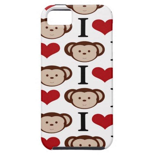 I Heart Monkeys I Love Monkey Valentines Gifts iPhone 5 Cover
