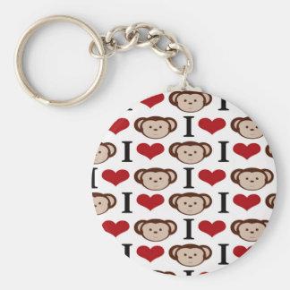I Heart Monkeys I Love Monkey Valentines Gifts Keychain