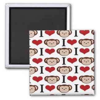I Heart Monkeys I Love Monkey Valentines Gifts Magnet