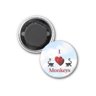 I Heart Monkeys Magnet