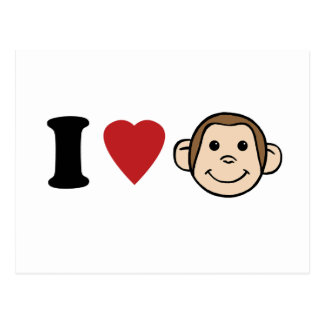 I Heart Monkeys Postcard