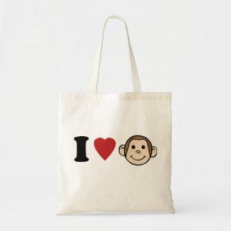 I Heart Monkeys Tote Bag
