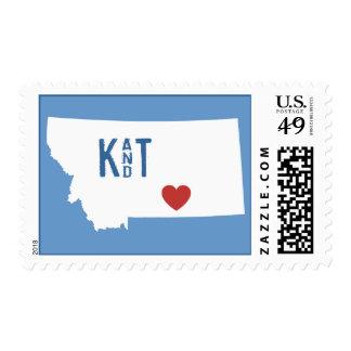 I Heart Montana - Customizable City Stamp