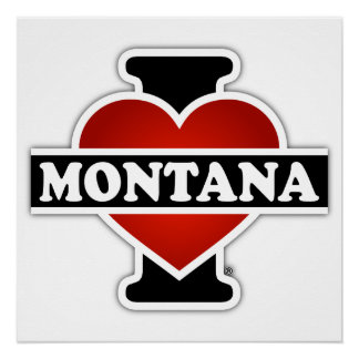 I Heart Montana Poster