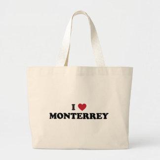 I Heart Monterrey Mexico Large Tote Bag