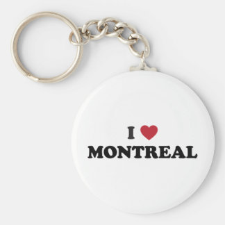 I Heart Montreal Canada Basic Round Button Keychain