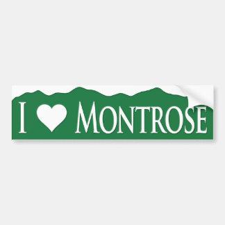 I <heart> Montrose Pegatina Para Auto