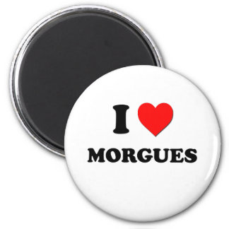 I Heart Morgues 2 Inch Round Magnet