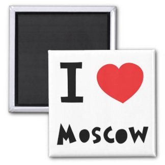 I heart Moscow 2 Inch Square Magnet