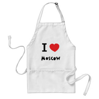 I heart Moscow Adult Apron