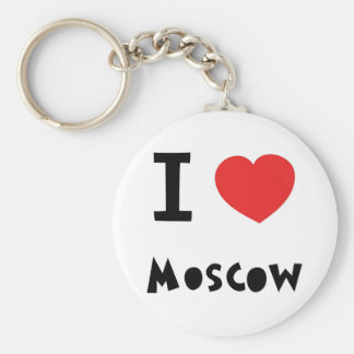 I heart Moscow Basic Round Button Keychain