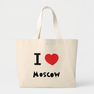 I heart Moscow Large Tote Bag