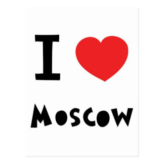 I heart Moscow Postcard