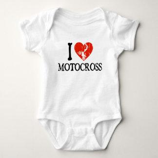 I Heart Motocross Baby Bodysuit