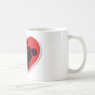 I Heart Motorcycle Wheelies Coffee Mug