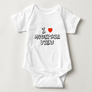 I Heart Mountain View Baby Bodysuit