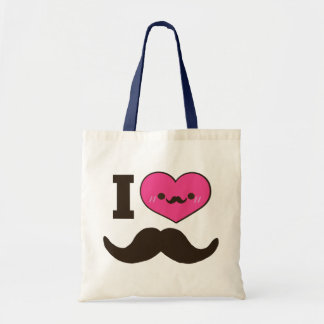I Heart Moustaches Tote Bag