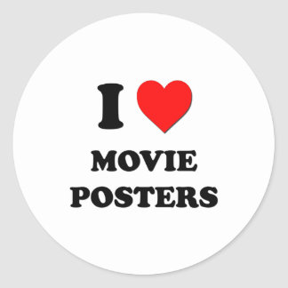 I Heart Movie Posters Classic Round Sticker