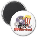I Heart Movies! Fridge Magnet