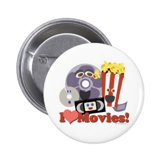 I Heart Movies! Pinback Button